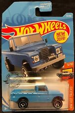 Hot Wheels Blue Land Rover Series III Pickup 1:64 Diecast HW Hot Trucks 3/10 New