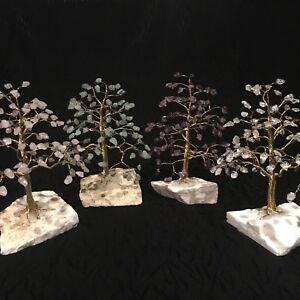 Crystal Gem Trees - 100 Gems - Rose Quartz, Aventurine, Quartz, Amethyst