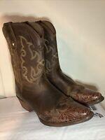 Tony Lama Savannah LL301 Vaquero Cowboy Western Boots Kids Brown Girls Size 4.5D