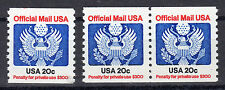 Sc# O-135 20c Official (1983) MNH Coil Single and Pair SCV $5.25