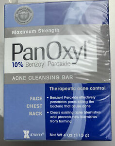 PanOxyl Acne Cleansing Bar 10% Benzoyl Peroxide Brand New Sealed Exp 7/12