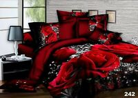 3D Effect Bedding Complete Set(242)With Duvet Cover,Pillow Cases & Fitted Sheet