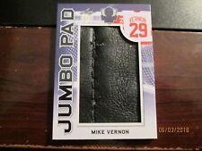 2017-18 LEAF MASKED MEN HOCKEY JUMBO PAD 1/c PAD #3/3 FLAMES Mike Vernon