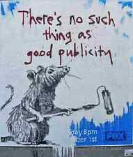 Banksy There Is No Such Thing As Bad Publicity A3 Photo Print Poster