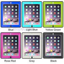 Kids Defender Full Body Protector Shockproof Hard Case Flip Smart Cover For iPad