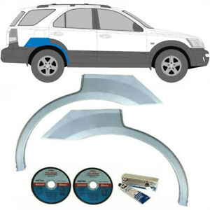 KIA SORENTO 2002-2009 REAR WHEEL ARCH REPAIR PANEL REAR WING / SET OF 2 / PAIR