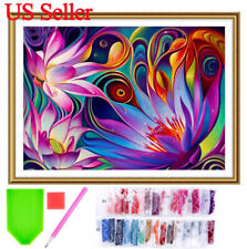 5D Diamond Painting Kit Full Drill Flower Embroidery Cross Stitch by Number Kit