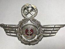 Post-WW2 East German air force badges cockades for officers peaked visor cap.NVA