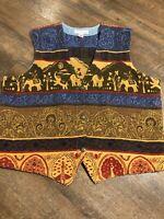 Norm Thompson Vintage Tapestry Vest Size Adult XL USA Made  Portland Oregon