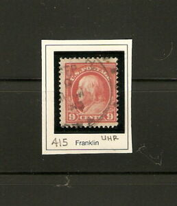 1914 FRANKLIN 9¢ ISSUE / SCOTT NO. 415 / UHR