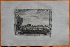 VAN DER AA Gravure originale c1725 VUE DE SAINT-DENIS Seine-Saint-Denis