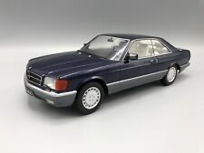 Mercedes 560 SEC (C126) 1985 metallic-blau - 1:18 KK-Scale  *NEW*