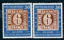 BUND 1949 115,115IV ** POSTFRISCH TADELLOS incl ABART 290€(D8764