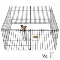 "8-16panel 24""30""39"" Metal Dog Cat Exercise Fence Playpen Kennel Safe For Pet"