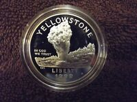 1999 Yellowstone National Park Commemorative Proof Silver Dollar