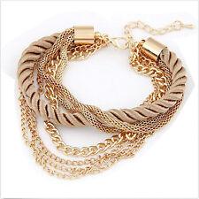 Fashion Charm Women Lots Style Gold Rhinestone Bangle Jewelry Cuff Bracelet Nice
