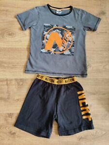 Boys Nerf Short Pyjamas Age 10-11 Years