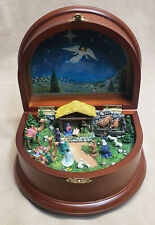 "Danbury Mint ""The Nativity"" Wooden Music Box Playing Silent Night"