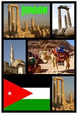 Jordan - RECUERDO ORIGINAL Imán de NEVERA - MONUMENTOS/Ciudades - Regalo - NUEVO
