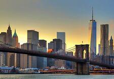 GRANDE Carta Da Parati Per Camera Da Letto Murale Parete NEW YORK CITY 366x254cm BROOKLYN BRIDGE