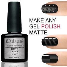 QUTIQUE Gel Nail Polish Pack/Set/Kit MATTE TOP COAT -LED/UV Professional Salon
