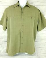 511 Tactical Mens M Green Short Sleeve Concealed Carry Vented 2 Pocket Shirt