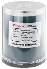 100-Pak CMC PRO (TY Technology) =SILVER INKJET (clear hub)= 52X 80-Min CD-R's!