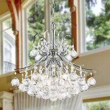 """US BRAND French Empire 6 Light Chrome Finish Crystal Chandelier 16"""" W MINI SMALL"""