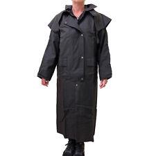 Stockman Full Length Long Drizabone Style Oilskin Jacket Coat - LARGE