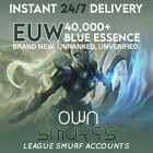 EUW League of Legends LoL Account UNRANKED LEVEL 30 UNVERIFIED 40K League Smurf <br/> 🥇#1 SELLER🥇🚚Instant Delivery🚚 🛡️Warranty🛡️