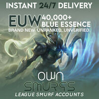 [EUW 40K+]League of Legends Unranked 30 Account EUW LoL SMURF 40,000 - 50,000BE