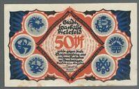 """Notgeld - Bielefeld - Stadt Bielefeld - 50 Pfennig  - 1921 - Bst. """"B"""""""