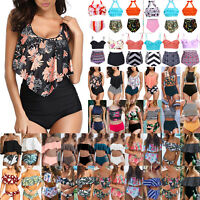 Women Push Up Padded Bikini Set High Waisted Swimsuit Bathing Swimwear Beachwear