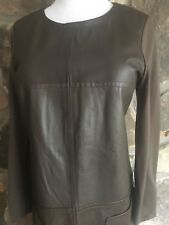 MAX MARA Weekend ,Soft Lamb Leather/Elastic Fabric DRESS, size 12