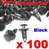 100 VW TRANSPORTER T4 T5 T6 LONGER LONG TRIM PANEL CLIPS BLACK VAN CARPET LINING