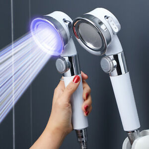 High Turbo Pressure Shower Head Water Saving Powerful Adjustable Filtered Boost
