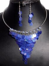 Blue Fashion & Belly Dance Costume Hippie Jewelry Beaded Necklace AIFN_149