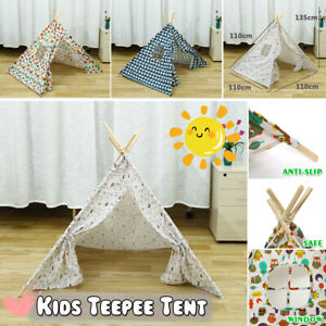Kids Indian Teepee Tent Children Home Canvas Pretend Play Playhouse Indoor