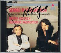 Martha ARGERICH Signiert RACHMANINOV Suite 1 2 Symphonic Dances RABINOVITCH CD