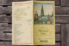 23662 SHELL Straßenkarte Nr. 19 Württemberg Bayern Ulm München um 1935