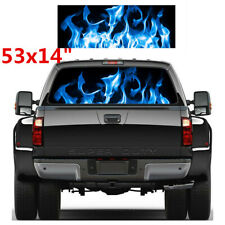 Car SUV Rear Window Stickers Fashion Burning Blue Flame Totem Decal Accessories