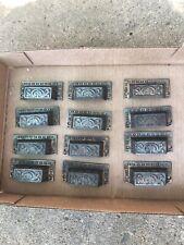 12 decorative cast iron embossed drawer pulls