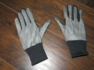 RAPHA Pro Team Lightweight Racing Cycling Gloves Mitts Full Finger Gray Silver S