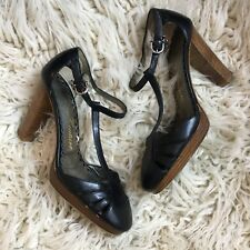 Juicy Couture Mary Jane Pumps Shoes Black  Made In Italy Retro Pin Up 7.5
