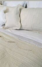 CREAM QUILT BEDSPREAD DOUBLE BED SIZE 100% COTTON (1)