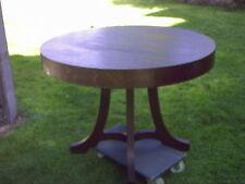 Alter Jugendstil Tisch Rund Eiche Eiche funiert gut erhalten ansehen bitte !!