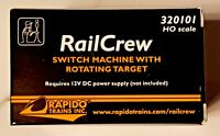RAPIDO TRAINS RAIL CREW HO SCALE SWITCH MACHINE WITH ROTATING TARGET 320101 F/S
