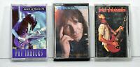 3 Pat Travers Band Cassette Tapes Best of, School of hard knocks Rock Blue Rock