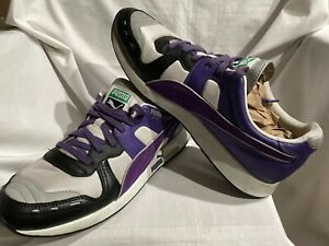 PUMA Classic R-System RS 100 Shoes Men's Size 10.5 Purple / White / Gray