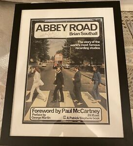Paul Mccartney Signed Abbey Road Poster BEATLES